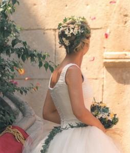 recogido novia con hiedra