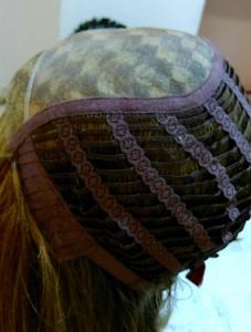 peluca de cabello natural con monofilamentos