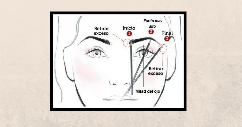 Puntos para maquillar cejas
