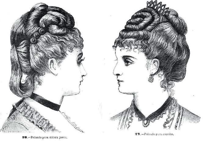 flequillo ondulados en siglos XVII y XIX