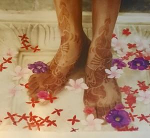 baño de pies de aveda