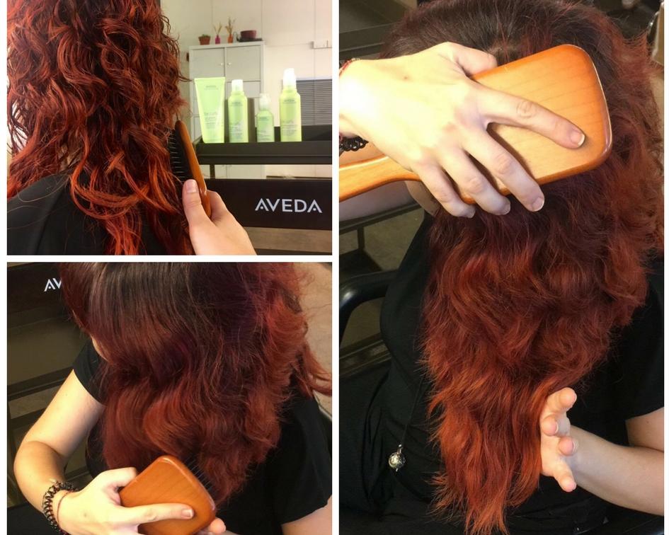 desenredar cabello rizado