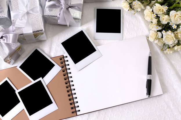 Wedding gifts and photo album