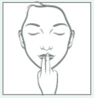 yoga facial mejillas sonrientes