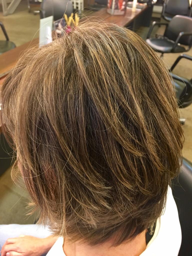 mechas con coloración barro