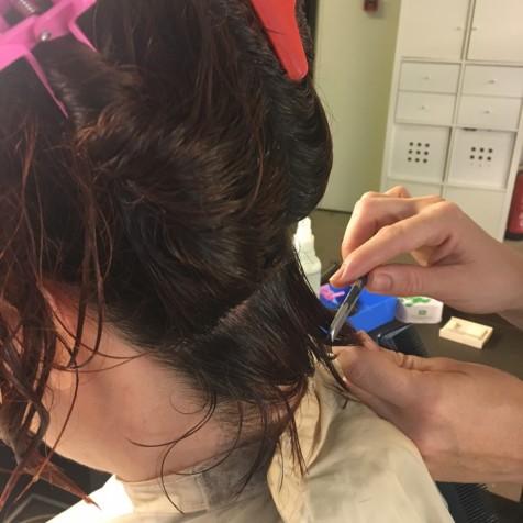 corte bob cabello rizado