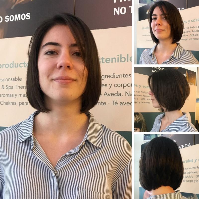 corte bob de cabello fino