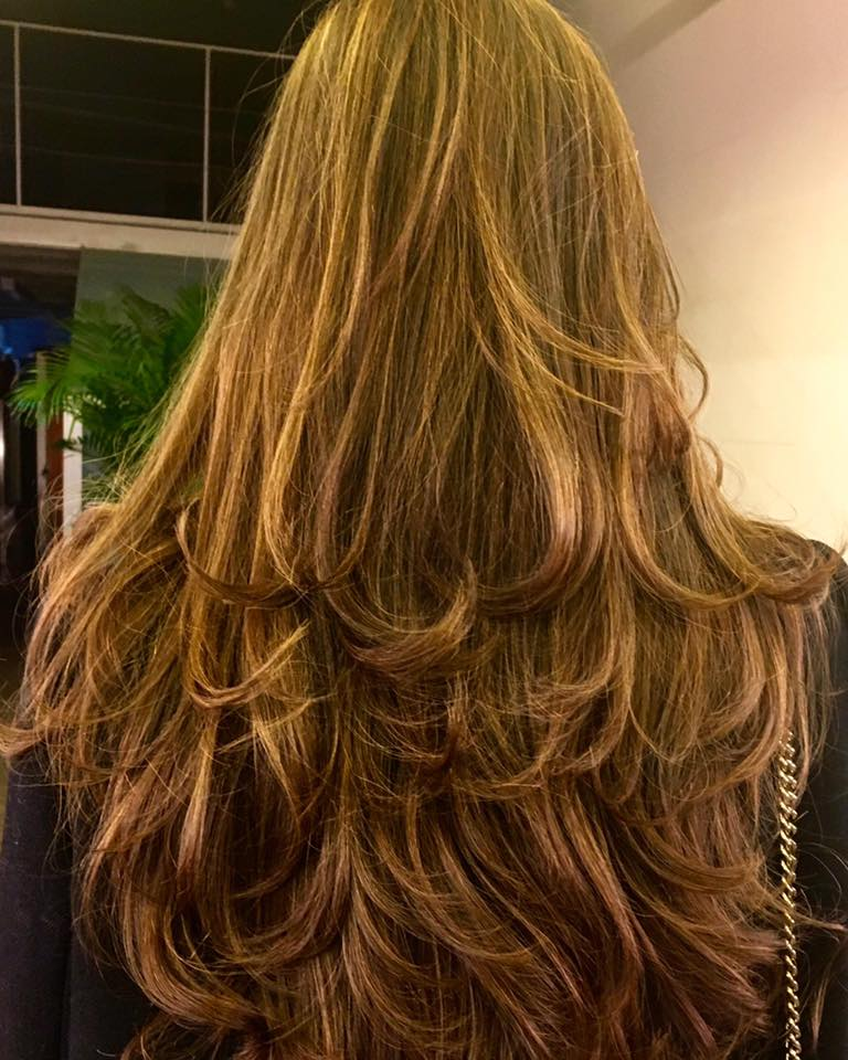 mechas gorro cabello largo