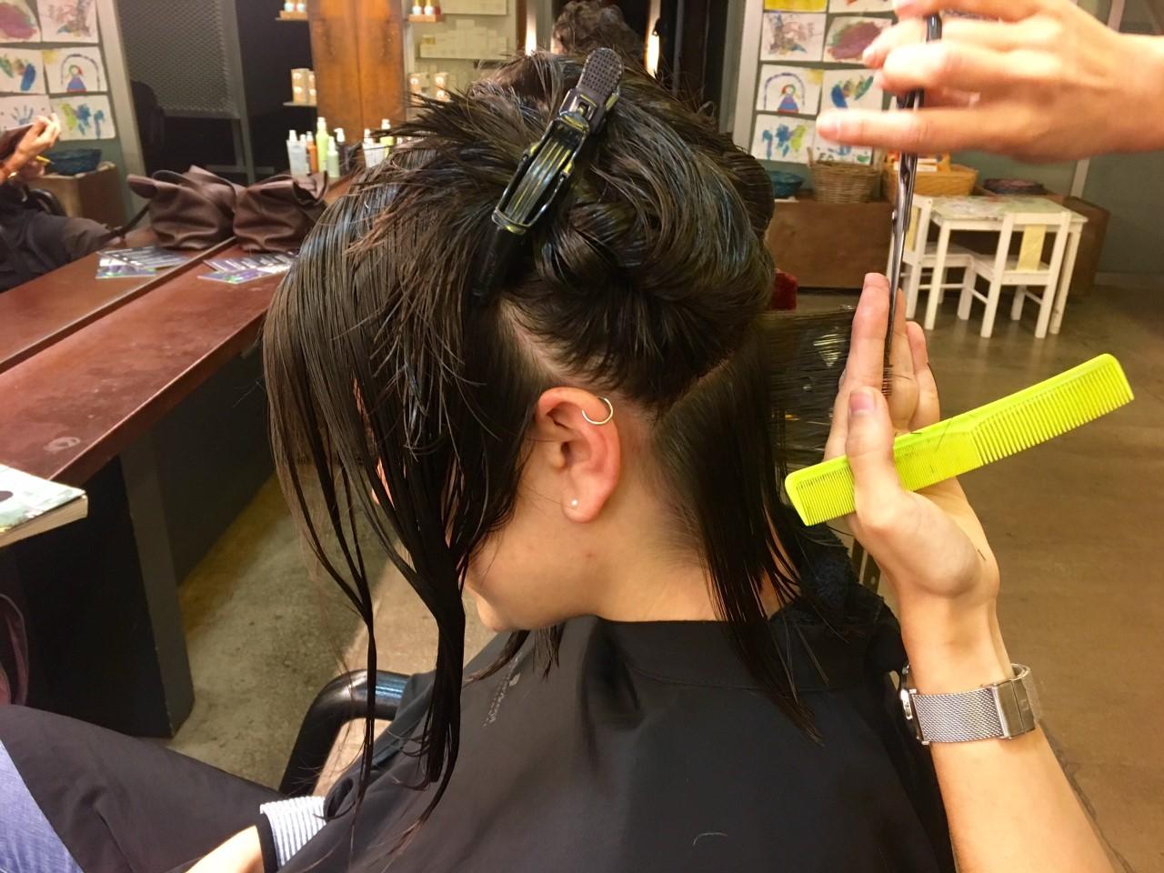 Corte bob en cabello fino
