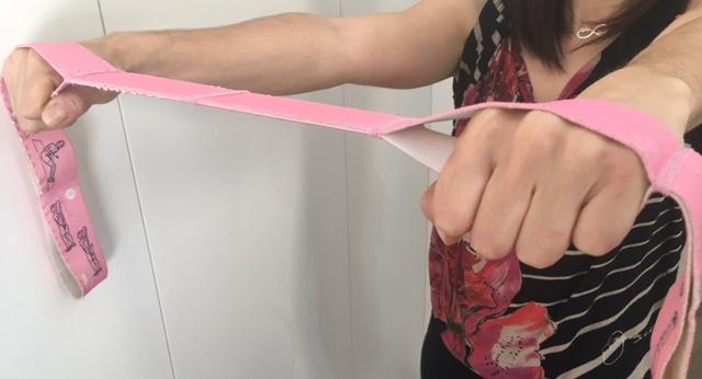 ejercicio cinta para mastectomia