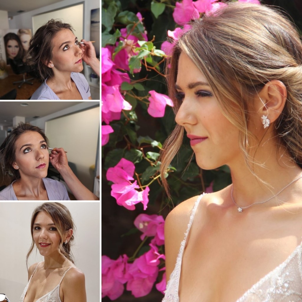 collage maquillaje novia